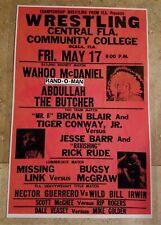 "Wrestling Poster Wahoo McDaniel vs Abdullah The Butcher ""Bounty Match"""