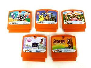 Lot 5 Vtech Vsmile Motion Game Cartridge Disney Princess Frog Mikey mouse & more