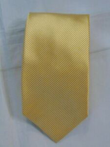 Ermenegildo Zegna Silk Neck Tie Made In Italy PinStripe Gold White Orange