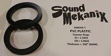 """PVC Plastic Speaker / Spacer Rings, Tweeter Rings .236"""" 6MM One Pair"""