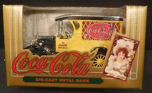 NOS 1993 ERTL Coca-Cola Die Cast Metal Bank#0463 Chevrolet Chevy Delivery Truck