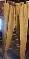 men's Hugo Boss beige linen trousers W36
