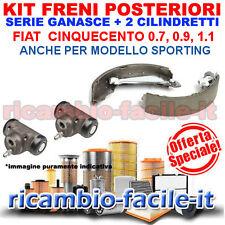 KIT FRENI POSTERIORI FIAT CINQUECENTO 0.7 0.9 1.1 700 900 1100 SPORTING GANASCE