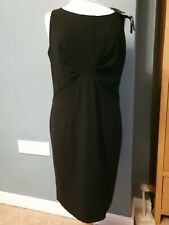 Autograph Marks & Spencer M&S Black Pencil  Work Dress - UK 14  £45