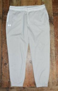 UNDER ARMOUR STORM Swacket Sweat Pants Women Medium Jogger 1285669 Off White