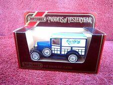 MATCHBOX MODELS OF YESTERYEAR Y21 1930 MODEL 'A'  FORD VAN [BARTERS SEEDS] 1984