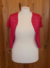 PER UNA M&S cerise hot pink short sleeve waterfall cardigan jumper top 18 46