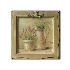 """11"""" x 11""""Hand Painted 3D Painting Landscape Wooden Frame Wall Hanging Art Décor"""