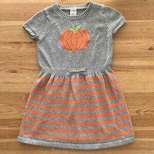 GYMBOREE Striped Pumpkin Sweater Dress Size 6