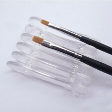 Nail Art Brush Holder Acrylic Brush Holder UV Gel Brush Holder Clear or Pink UK