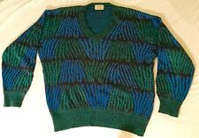 Vintage Missoni Men's Sweater, made in Italy, size large, wool blend