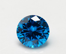 Sea Blue Sapphire 10MM 6.06Ct Round Faceted CUT AAAAA VVS LOOSE GEMSTONE