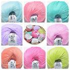 DMC NATURA YUMMY Just Cotton 4Ply Crochet & Knitting Yarn - Choose - 8 Colours