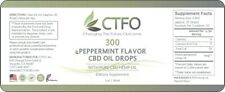 Organic Hemp Seed Oil Drops 300mg by CTFO - Premium Pain Relief Anti-In
