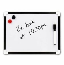 A4 Dry Wipe Magnetic Whiteboard Mini Office Notice Memo White Board UK