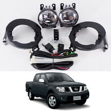05-14 For Nissan Frontier Navara D40 Clear Lens Fog Light Kit Lamp ABS Bumper