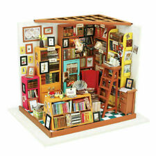 Sam's Study Doll's House Miniature Library Bookshop Dollhouse with LED Lighting