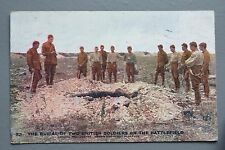 R&L Postcard: Daily Mail Battle Photo WWI British Soldier Burial on Battlefield