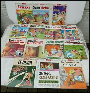 14 x Asterix Books Hardback in French 1970's