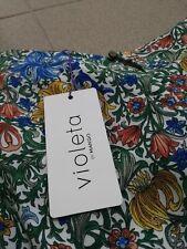 MANGO VIOLETTA Blusa estiva multi color, taglia XXL nuova con etichetta