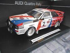 AUDI Quattro Rallye Gr.B Hunsrück 1984 DRM Votex UMBAU Demuth SMS Sunstar 1:18