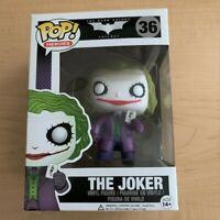 Funko POP! Heroes The Dark Knight Trilogy The Joker Vinyl Figure #36 Vaulted