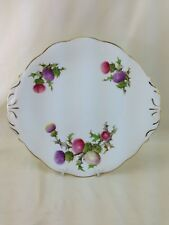 Vintage Queen Anne Bone China Dundee Thistle Cake Plate