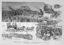 COLUMBIAN EXPOSITION 1893 HISTORY CROWDS CHICAGO WORLD'S FAIRGROUNDS BUS TROLLY
