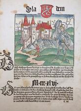 BOTHO CRONECKEN DER SASSEN MAGDEBURG ERFURT BRAUNSCHWEIG SCHÖFFER MAINZ 1492 #T3