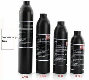 4500psi Aluminum HP Tank 0.35L 0.45L PCP Paintball Cyclinder Air Bottle M18*1.5