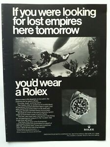 1969 ROLEX SUBMARINER OYSTER ORIGINAL AD - IF YOU WERE LOOKING FOR LOST EMPIRES