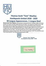 TOM Mackey hartlepools Uniti 1928-1929 molto rara mano originale firmato di taglio