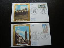 FRANCE - 2 enveloppes 1er jour 1974 (st-paul de leon/rochechouart) (cy43) french