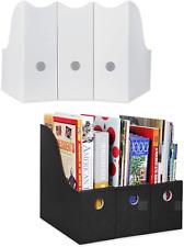 Magazine File Holder Organizer Sturdy Folder Desk Box Cardboard Storage Pack