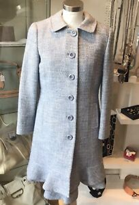 Red Valentino 2piece Baby Blue Wool Dress And Dress Coat Size 38 (10)