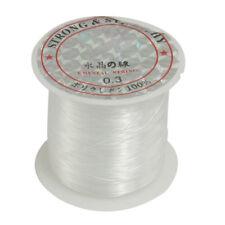 Beading Thread 0.3mm Dia. Clear Nylon Fishing LIne Spool 17 Lbs FP