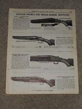 1940 Lefever Double & Single Barrel Shotguns Nitro Price List Ad Catalog Page