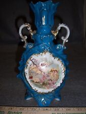 Victoria Carlsbad Austria Vase - Cherubs Fishing - antique Gift Idea Free Ship