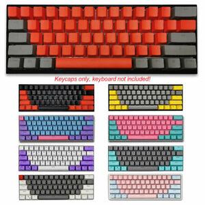 61 keys PBT Keycap Set Thick Key Caps fit Cherry MX Mechanical Keyboards Backlit