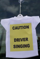 Caution on board car hanging t-shirt sign FREE PERSONALISATION