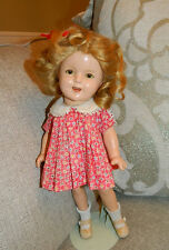 "Antique 13"" Composition Ideal Shirley Temple Doll w Original Tagged Loop Dress"