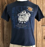 Georgetown Hoyas Men's Medium Tshirt Vintage 90's Big East Basketball Nutmeg VTG