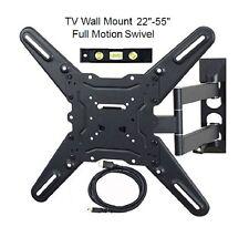 Full Motion TV Wall Mount Swivel LED LCD Plasma Flat Screen 22