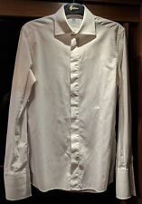 Boggi Milano Mens Formal White Dinner/Dress Shirt Size 15 Collar, 38 Chest