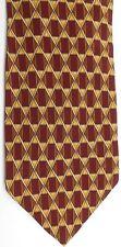 """Valentino Men's Silk Tie 58"""" X 4"""" Multi-Color Geometric/Criscross"""