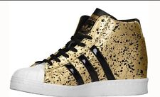 Adidas Superstar Up Wedge Women's Shoes Size 8 Gold & Black Metallic Speckle