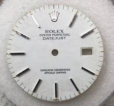 100% Rolex Men Datejust Matte White Dial Silver Stick Markers-16013/16233/116234