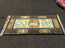 AUTH: BEAUTIFUL ANTIQUE TIBETAN RUG, ORGANIC DYES, EXTREMELY RARE COLLECTABLE!