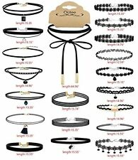 20 PCS Black Choker Necklace Set Womens Velvet Fashion Classic Charm Girls New
