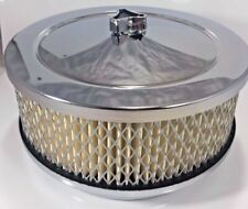 United Pacific 6-3/8 inch Chrome Air Cleaner Kit, 4 barrel carb, 5-1/8 Inch Neck